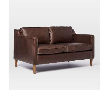 West Elm Hamilton 2.5 Seater in Leather Mocha