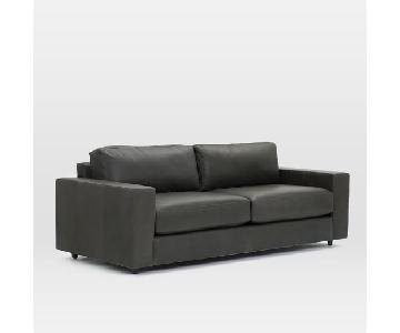 West Elm Urban 2.5 Seater Sofa in Aspen Leather Fog