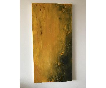 Golden Field - Original Oil Painting Signed