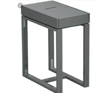 CB2 Grey Torino Dark Grey Side Table