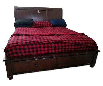Bob's Discount Furniture Chatham Cherry King Bed