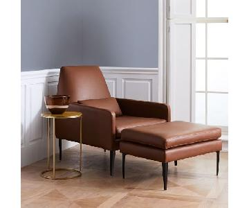 West Elm Smythe Chair in Cigar Leather