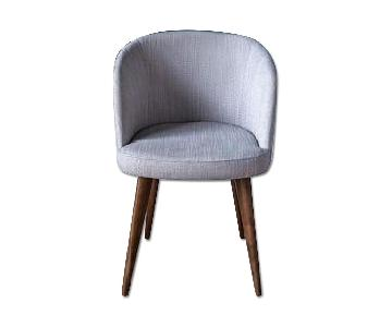 West Elm Abraza Dining Chair in Gray Pecan Basket Weave