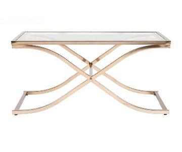 Wildon Home Gold & Glass Coffee Table