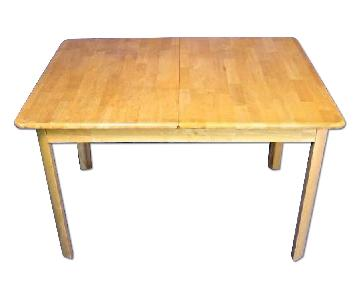 Dining Center Wood Table w/ Extension Leaf