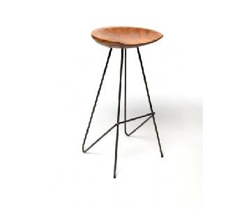 Sterling Place Teak Perch Stool