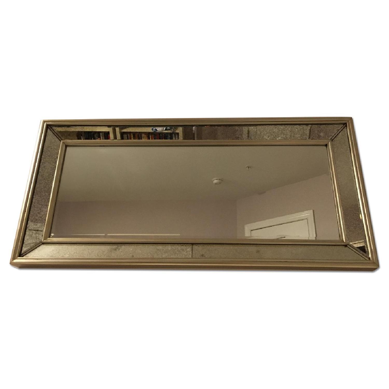 Ballard Designs Orion Leaner/Wall Mirror in Antique Silver