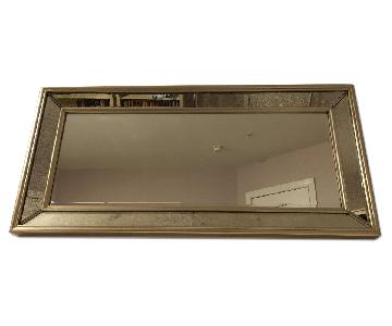 Ballard Designs Orion Leaner/Wall Mirror in Antique Silver