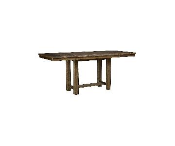 Long Wooden Country Dining Table