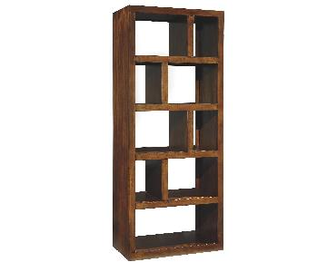 Modern Wooden Cube Bookcase