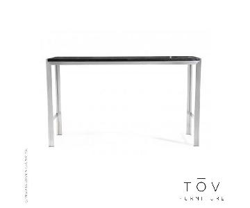 Modern Silver and Black Bar Table