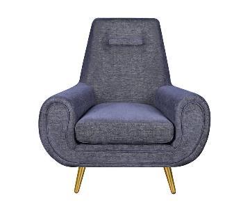 Modern Blue Navy Armchair