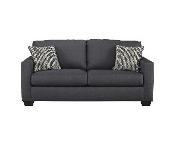 Classic Indigo Two-Seater Sofa