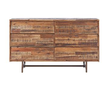 Rustic Wooden 8 Drawer Dresser