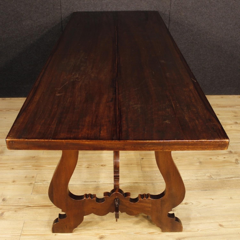 ... Italian Refectory Table In Walnut U0026 Chestnut Wood 1 ...