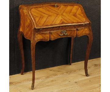 French Bureau In Rosewood Palisander Maple Wood