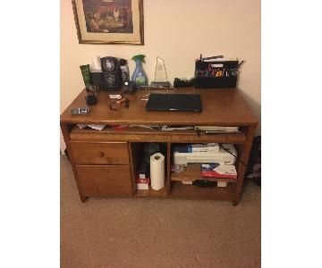 Large Wood TV Stand/Desk