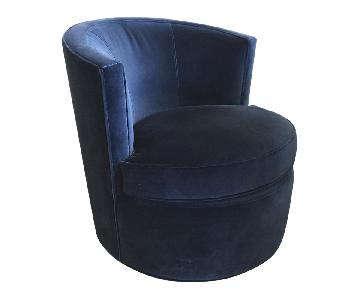 Room & Board Otis Swivel Chair in Indigo