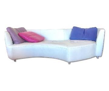 Roche Bobois Digital Round-3 Seat Sofa & Ottoman