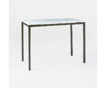 West Elm Box Frame Marble Top Counter Table