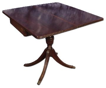 Mahogany Sheraton Style Flip Top Card Game Dining Table
