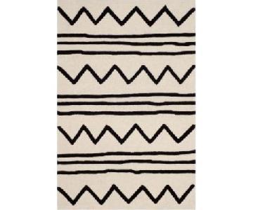 Safavieh Black & White Wool Rug