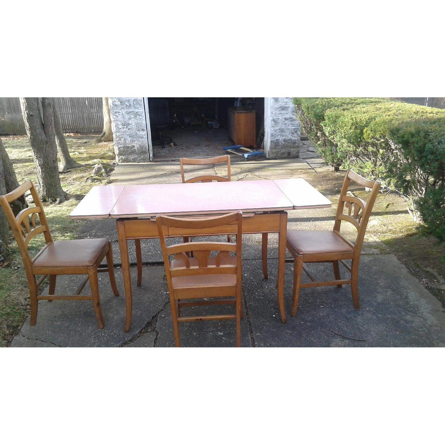 vintage dining room table w 4 chairs - 4 Chair Dining Table