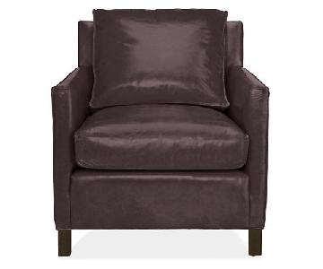 Room & Board Chocolate Armchair