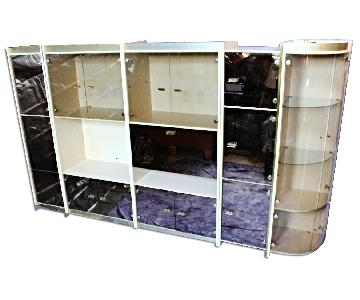 5-Piece Smoked Glass Display China Cabinet
