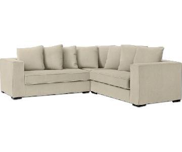 West Elm Walton 3-Piece L-Shaped Sectional Sofa