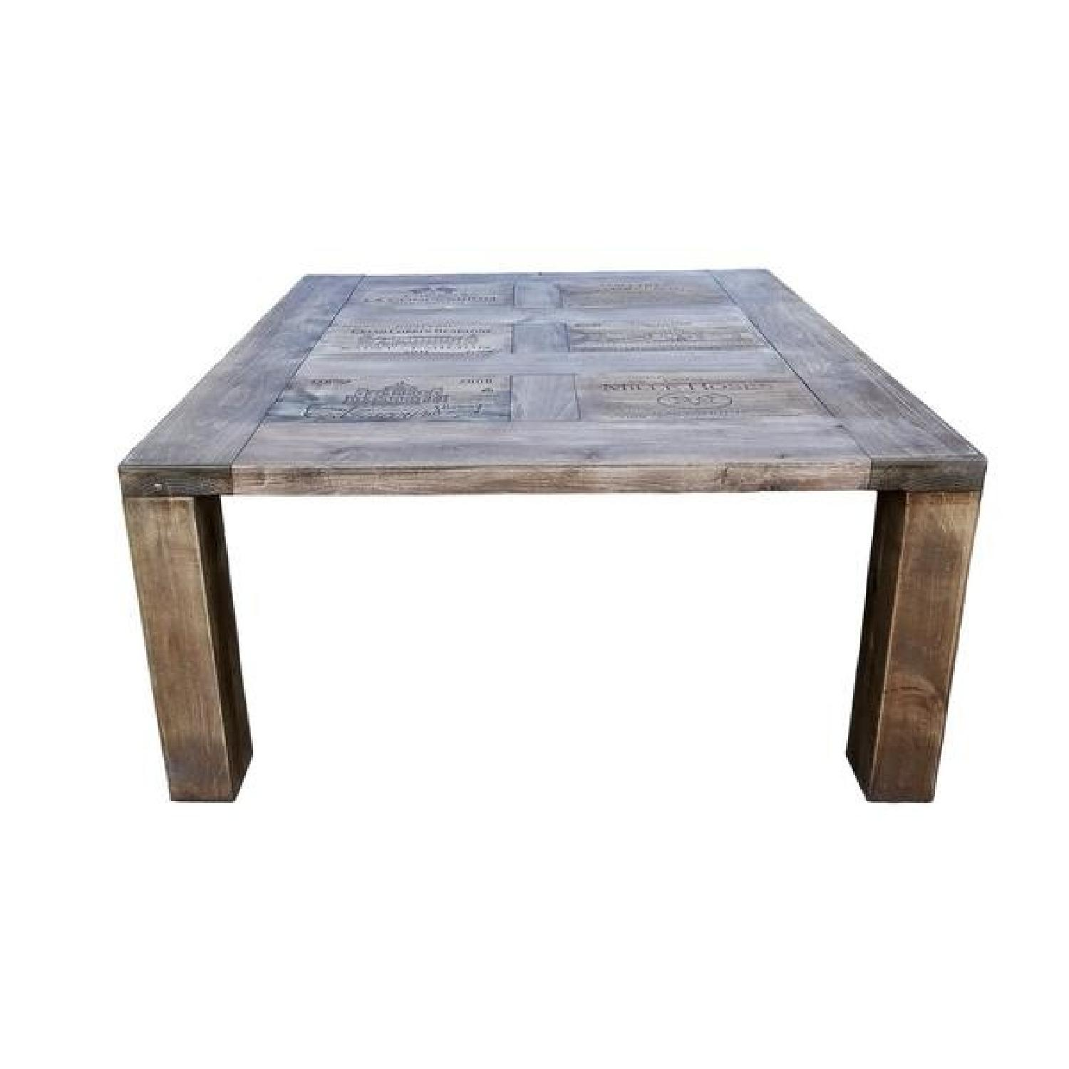 Handmade Pine Wood French Wine Crates Rustic Coffee Table