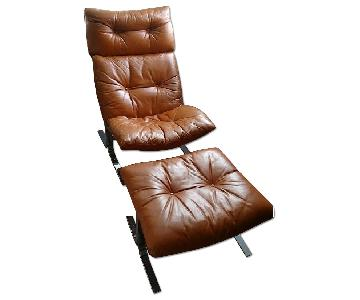 Linea Italia Lounge Chair & Stool