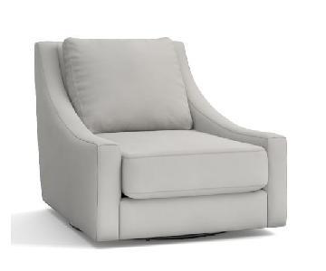 Pottery Barn Aiden Swivel Chair