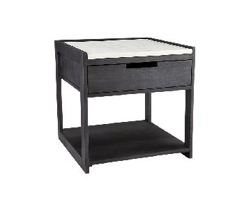 CB2 Tux Marble Top Nightstand
