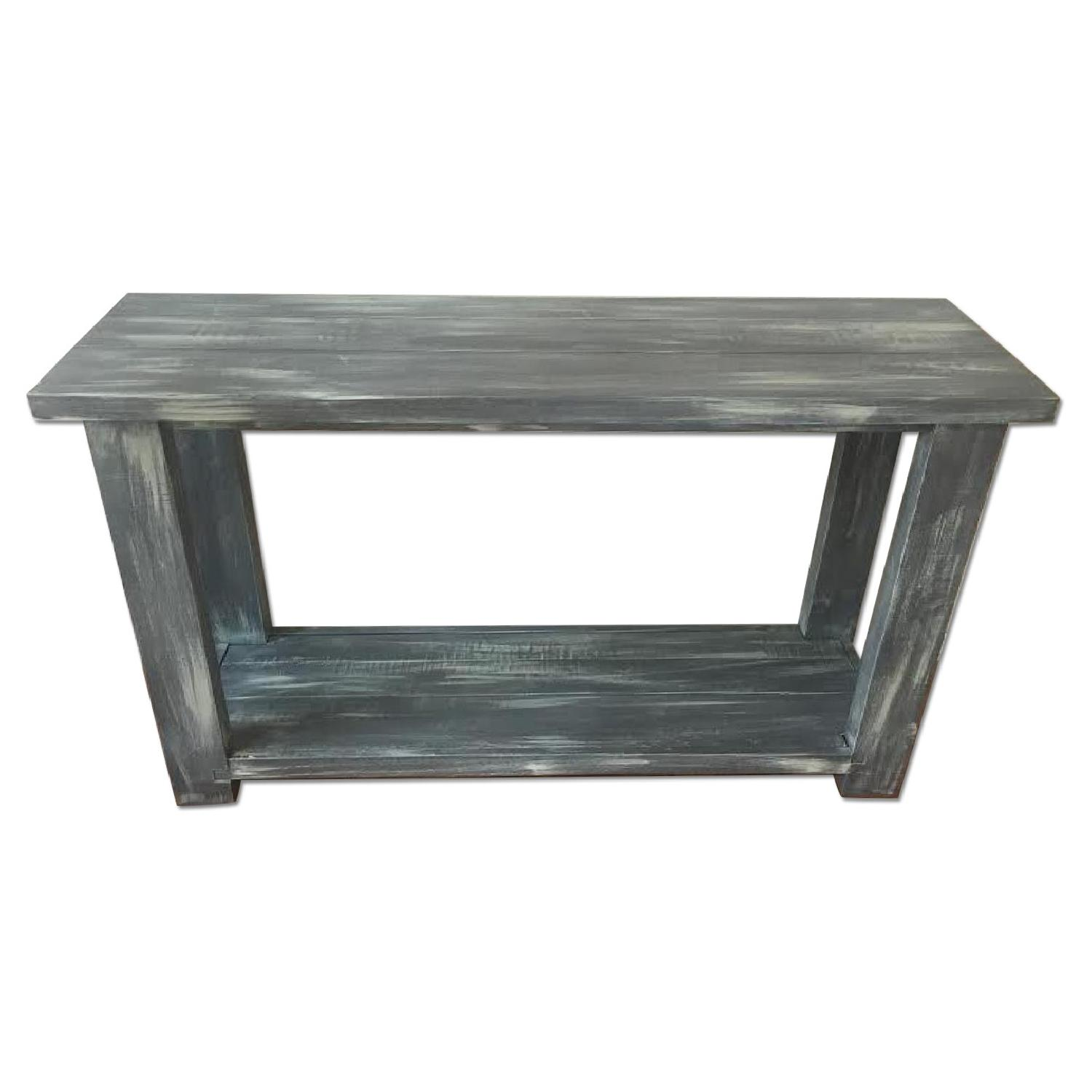 Great Distressed Wood Console Table ...