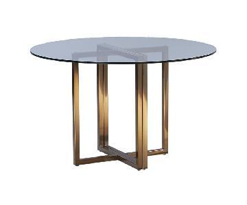 CB2 Silverado Round Dining Table