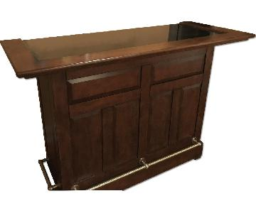Raymour & Flanigan Bar/Wine Rack & Liquor Cabinet