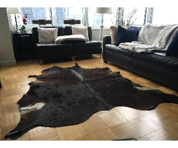 Pergamino Cowhide Rug in Luxe Chocolate