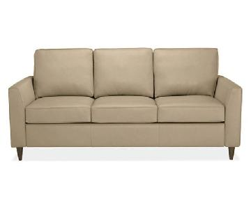 Room & Board Trenton Leather Sleeper Sofa