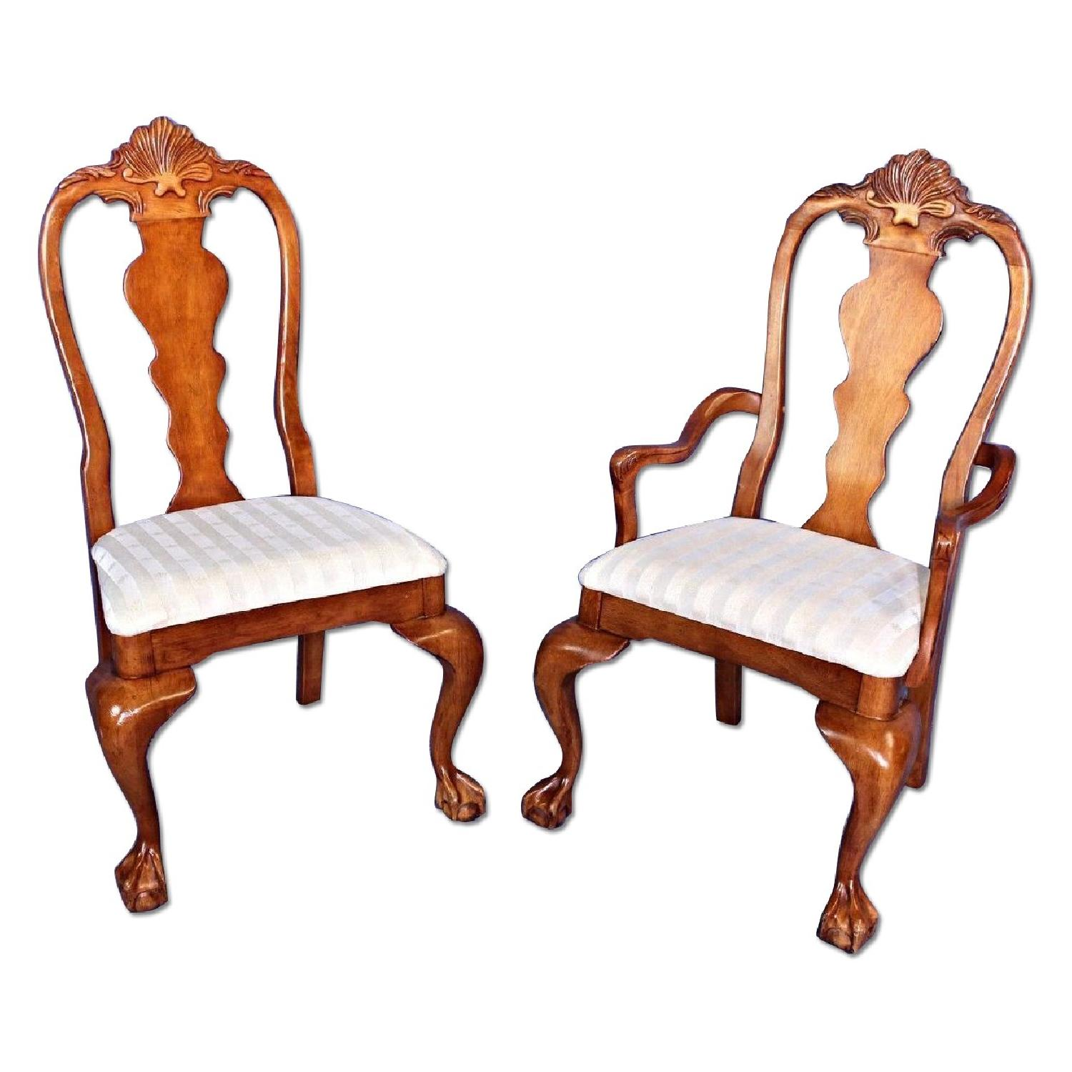 Wood Dining Room Chair w/ Claw Feet