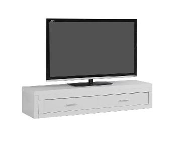 Monarch Furniture Freestanding TV Stand in White