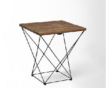 West Elm Angled Base Side Table