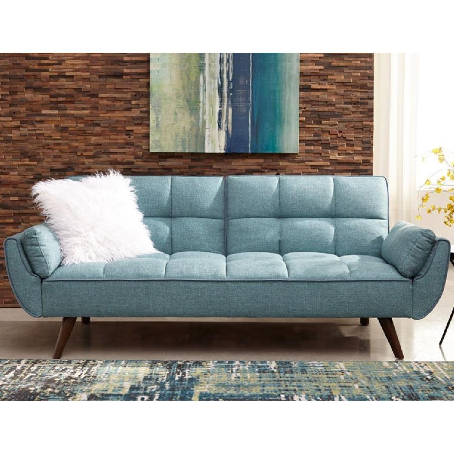 Light Turquoise Blue Sofa Bed