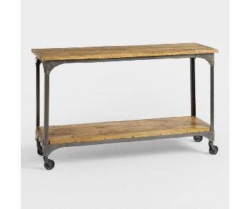 World Market Wood & Metal Aiden Console Table