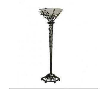 Iron & Alabaster Floor Lamp
