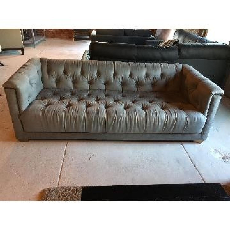 ... Restoration Hardware Tufted Grey Sofa 2 ...