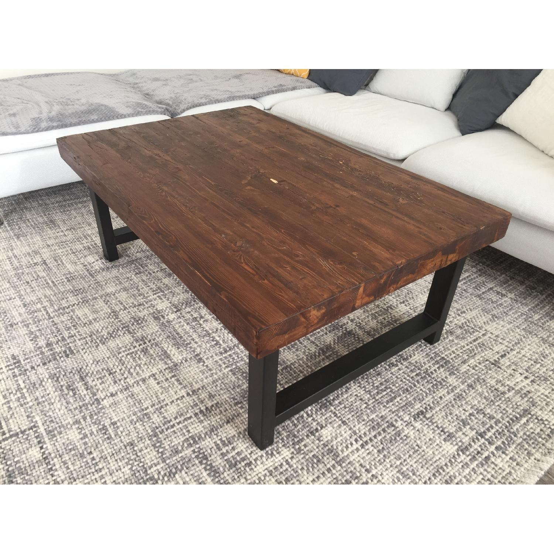 Pottery Barn Griffin Reclaimed Wood Coffee Table - AptDeco