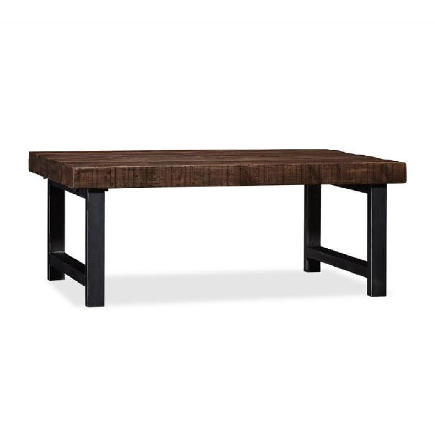 Pottery barn griffin reclaimed wood coffee table aptdeco pottery barn griffin reclaimed wood coffee table geotapseo Gallery