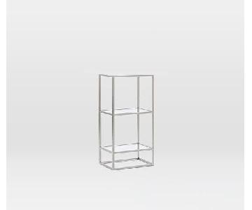 West Elm Frosted Glass Shelving Unit