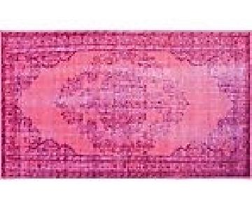 One King's Lane Pink Over-Dyed Moroccan Rug